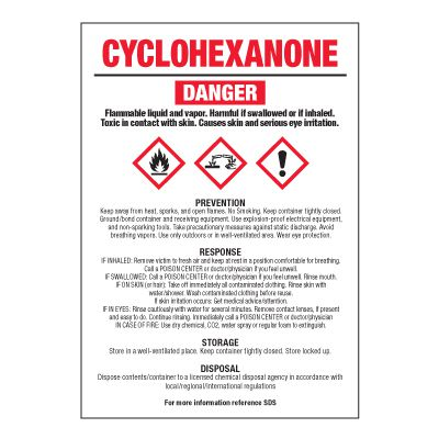 Cyclohexanone - GHS Chemical Labels