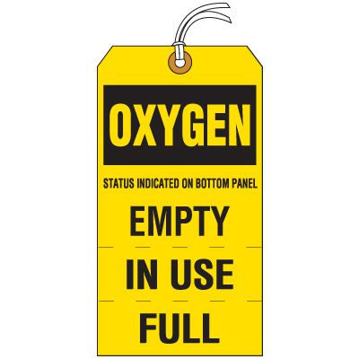 Oxygen Cylinder Status Tag