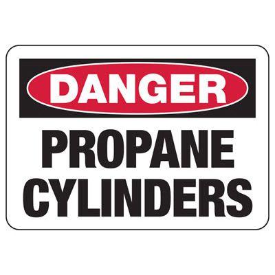 Danger Propane Cylinders - Industrial Cylinder Sign