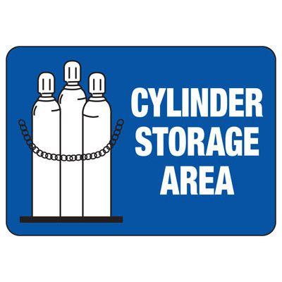 Cylinder Storage Area - Industrial Cylinder Sign
