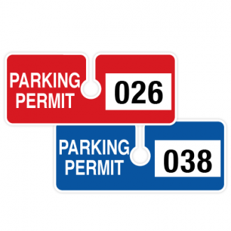 Rear View Mirror Tags Stock Parking Permit Tags