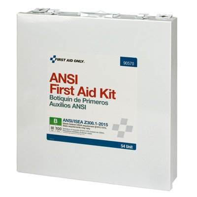 100 Person 54 Unit First Aid Kit, ANSI B