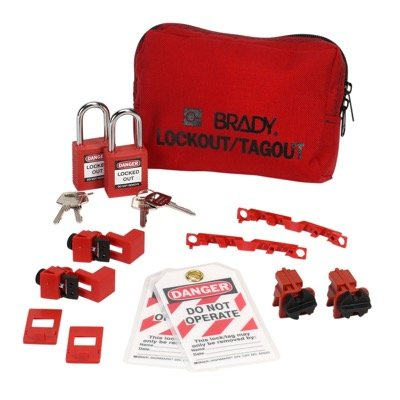 Brady 120/277V Breaker Lockout Pouch With Brady Safety Padlocks & Tags - Part Number - 99302 - 1/Each