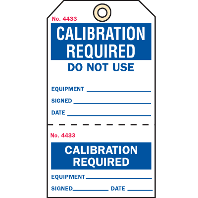 2-Part Production Status Tags - Calibration Required