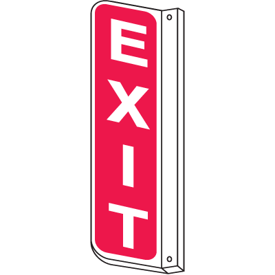 2-Way View Fire Safety Signs - Exit