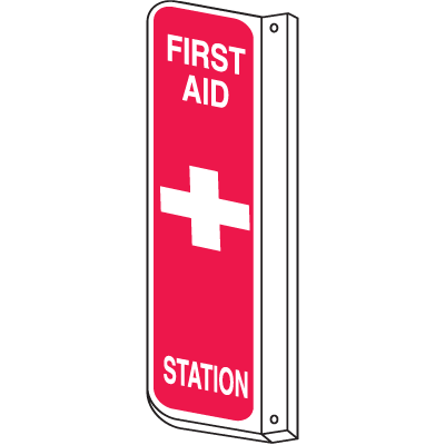 2-Way View Fire Safety Signs - First Aid Station