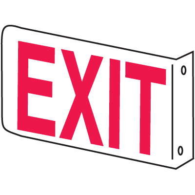 2-Way Glow in the Dark Exit Sign