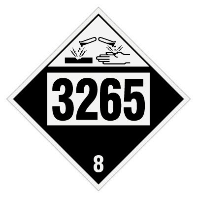 3265 Corrosive Liquid, Acidic, Organic - DOT Placards