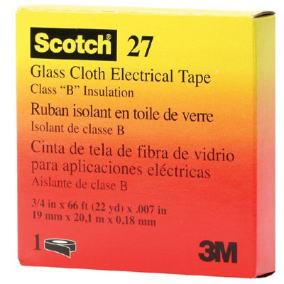 3M Electrical - Scotch® Glass Cloth Electrical Tapes 27 15074