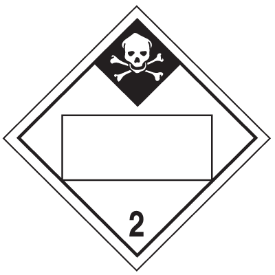 Inhalation Hazard Class 2 - 4-Digit Blank Placards
