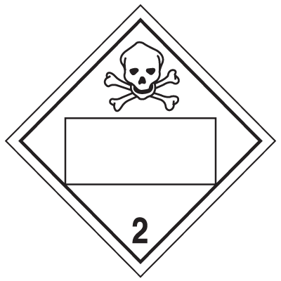 Toxic Gas Graphic 4 Digit Blank Placards