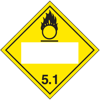 Oxidizer 4 Digit Blank Placards