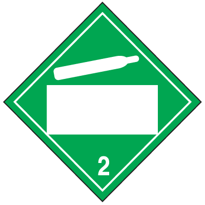 Non-Flammable Gas 4 Digit Blank Placards