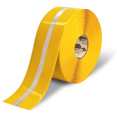 "4"" Mighty Line Safety Floor Tape - Reflective Stripe"