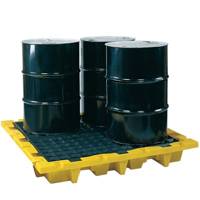 Eagle 4-Drum Nestable Spill Containment Pallets