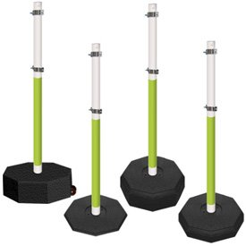 5 Ft. PVC Stanchion Systems - Fluorescent Reflective Post and Base