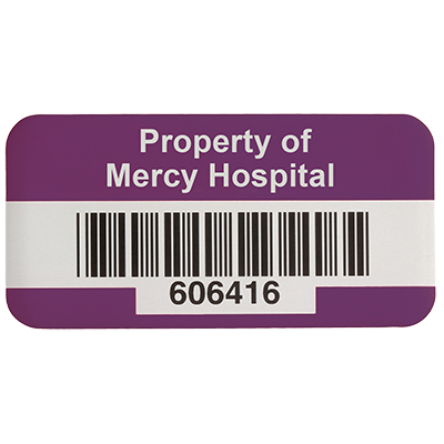 SetonGuard® Custom Bar Code Asset Tags