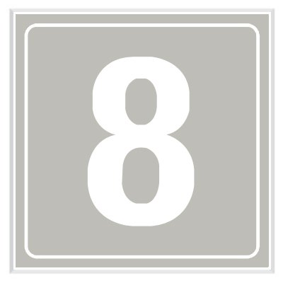 8 - Engraved Door Number Signs