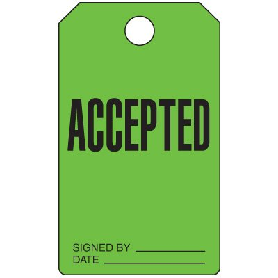 Accepted - Production Status Tags