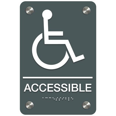 Accessible (Accessibility) - Premium ADA Facility Signs