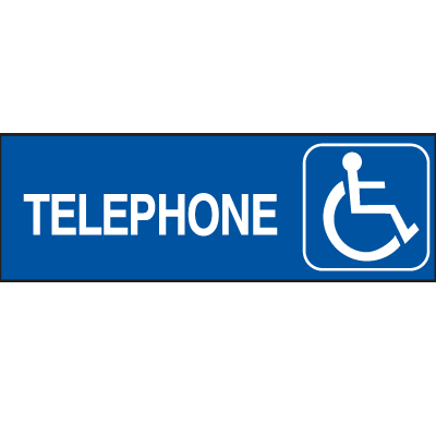 Handicapped Accessible Route Signs - Telephone