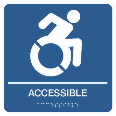 Accessible with Dynamic Accessibility Graphic - Graphic Braille Signs