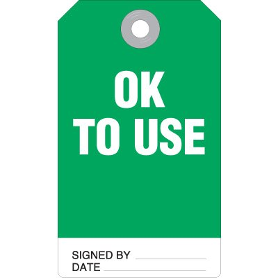 Ok To Use Accident Prevention Ultra Tag
