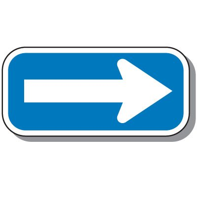 Add-On Handicap Parking Signs - One Way Arrow