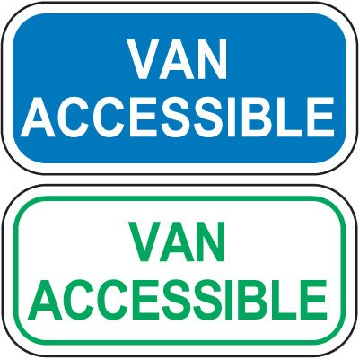 Add-On Handicap Parking Signs - Van Accessible