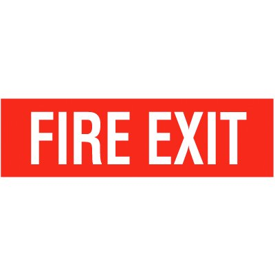 Fire Exit Self-Adhesive Vinyl Signs