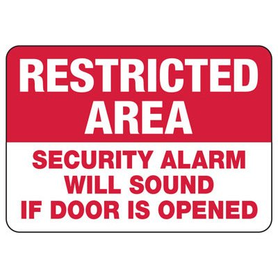 Alarm Signs - Security Alarm