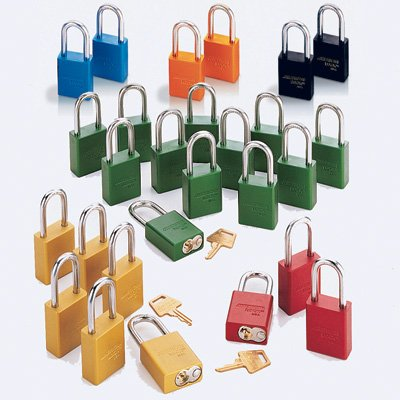 "American Lock® Keyed Alike Padlock Set of 6 - 1-1/2"" Shackle Height A1106KA"