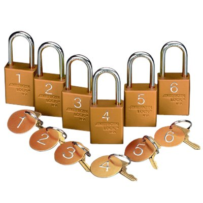 American Lock® Pre-Numbered Padlock Sets