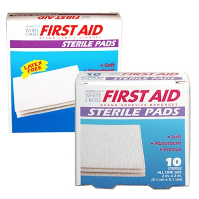 American White Cross Sterile Gauze Pads