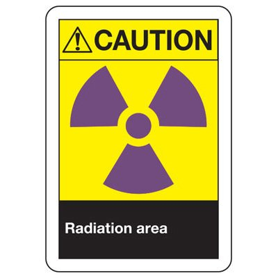 ANSI Z535.2-2011 Safety Signs - Caution Radiation Area