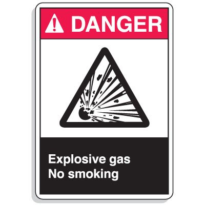 ANSI Z535.2-2011 Safety Signs - Danger Flammable No Matches Or Open Lights