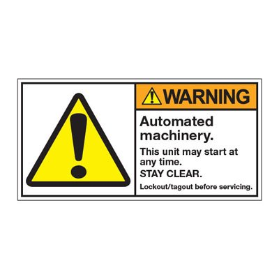 ANSI Z535 Safety Labels - Automated Machinery