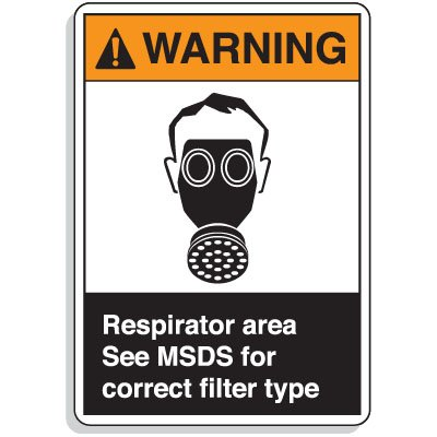 ANSI Z535 Safety Signs - Respirator Area