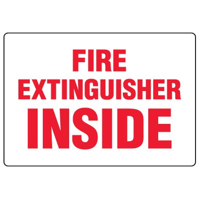 Anti-Microbial Signs - Fire Extinguisher Inside