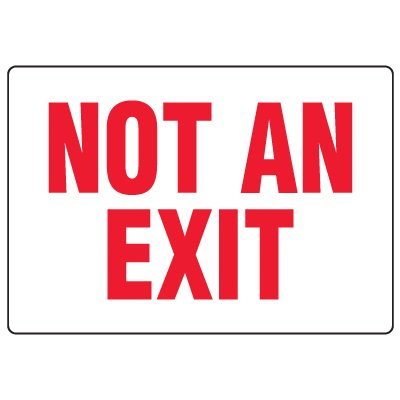 Anti-Microbial Signs - Not An Exit