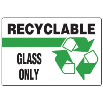 Anti-Microbial Signs - Recyclable Glass Only