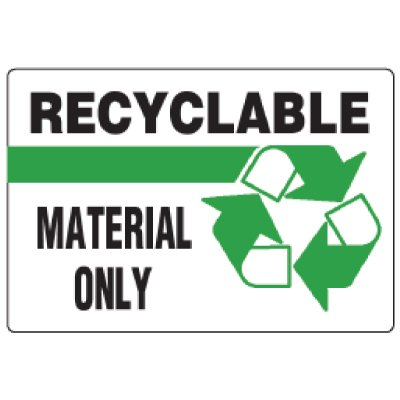 Anti-Microbial Signs - Recyclable Material Only