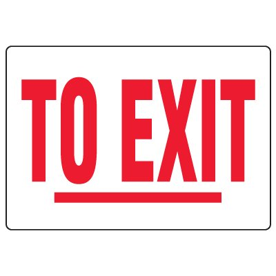 Anti-Microbial Signs - To Exit