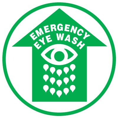 Anti-Slip Floor Markers - Emergency Eye Wash