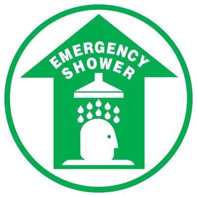 Anti-Slip Floor Markers - Emergency Shower