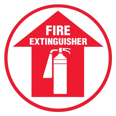 Anti-Slip Floor Markers - Fire Extinguisher