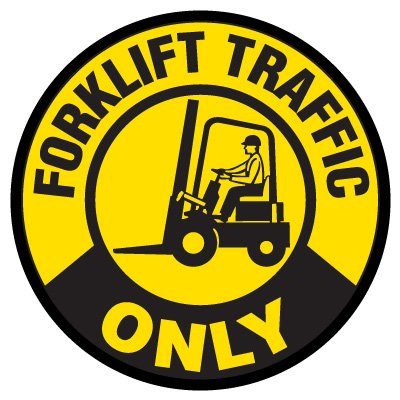 Anti-Slip Floor Markers - Forklift Traffic Only