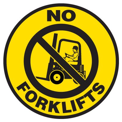 Anti-Slip Floor Markers - No Forklifts
