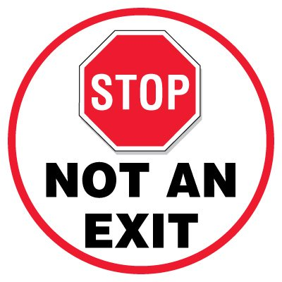 Anti-Slip Floor Markers - Stop Not An Exit