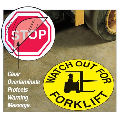 Anti-Slip Safety Floor Markers - Watch Out For Forklift